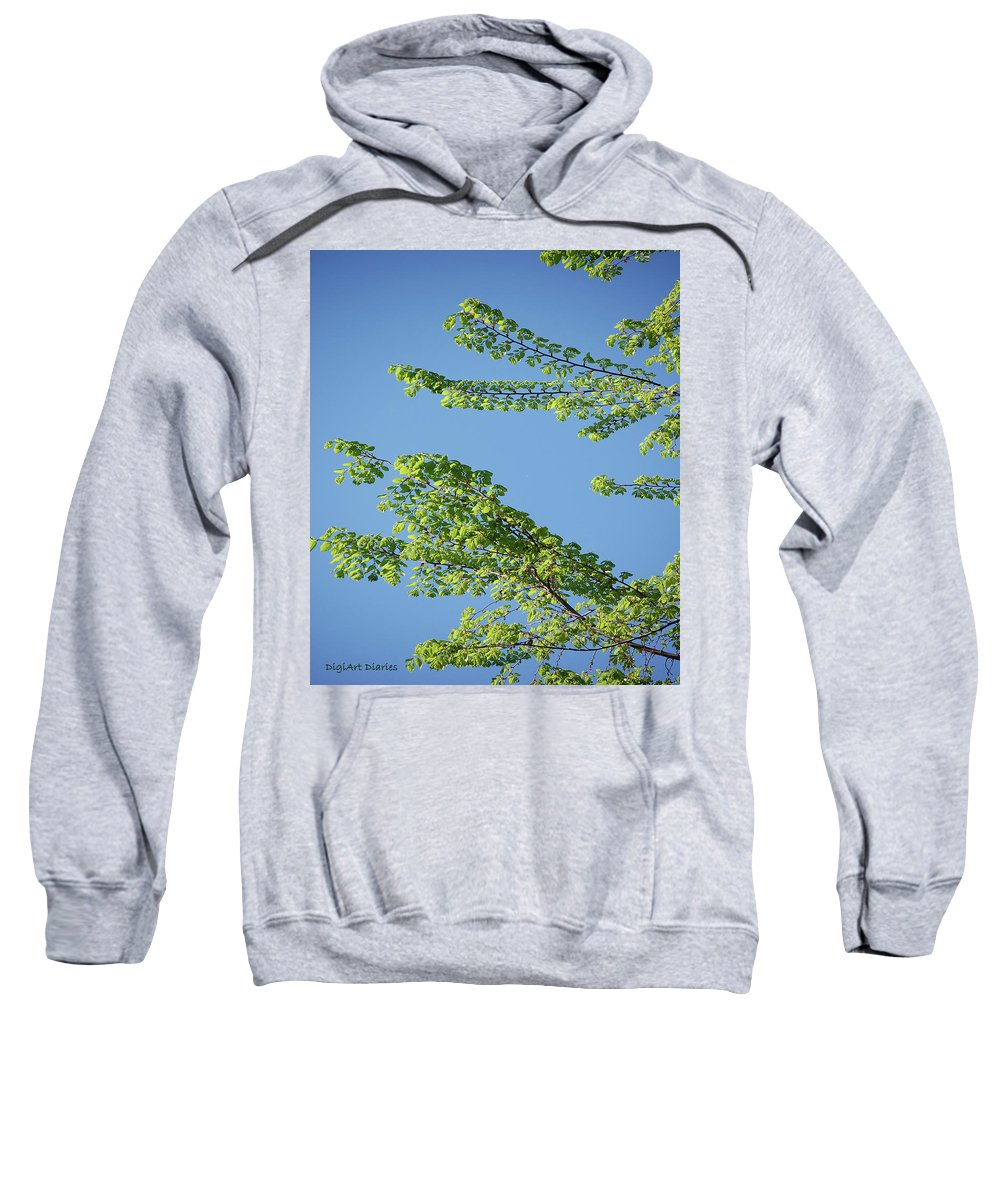 Tree Sweatshirt featuring the digital art First Sign Of Spring I by DigiArt Diaries by Vicky B Fuller