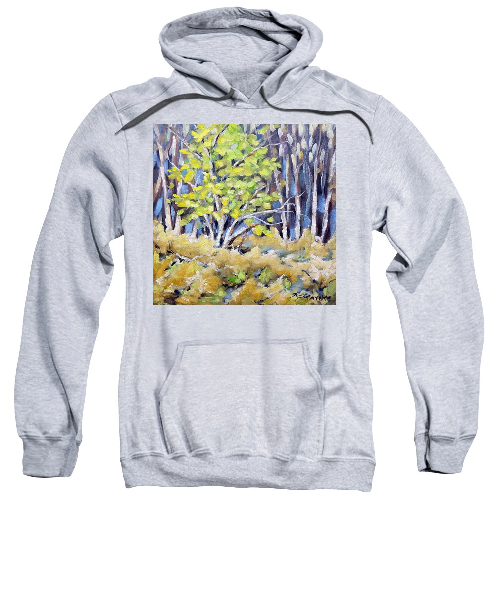 Art Sweatshirt featuring the painting First Touch Of Spring by Richard T Pranke