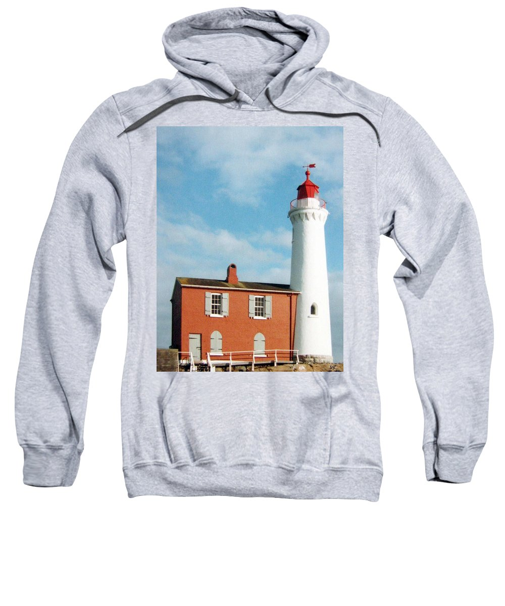 Fisgard Lighthouse Sweatshirt featuring the photograph Fisgard Lighthouse by Will Borden