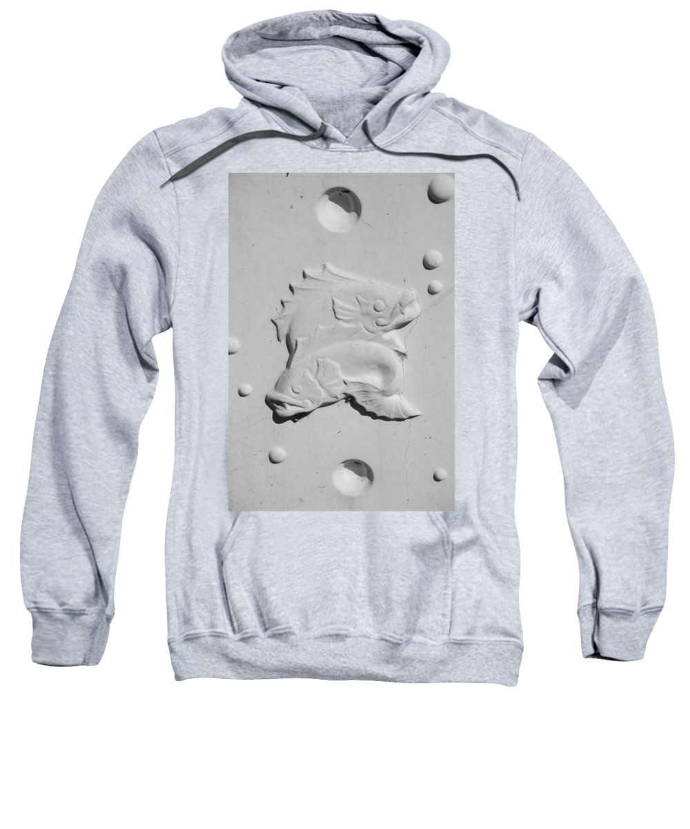 Black And White Sweatshirt featuring the photograph Fish And Bubbles by Rob Hans