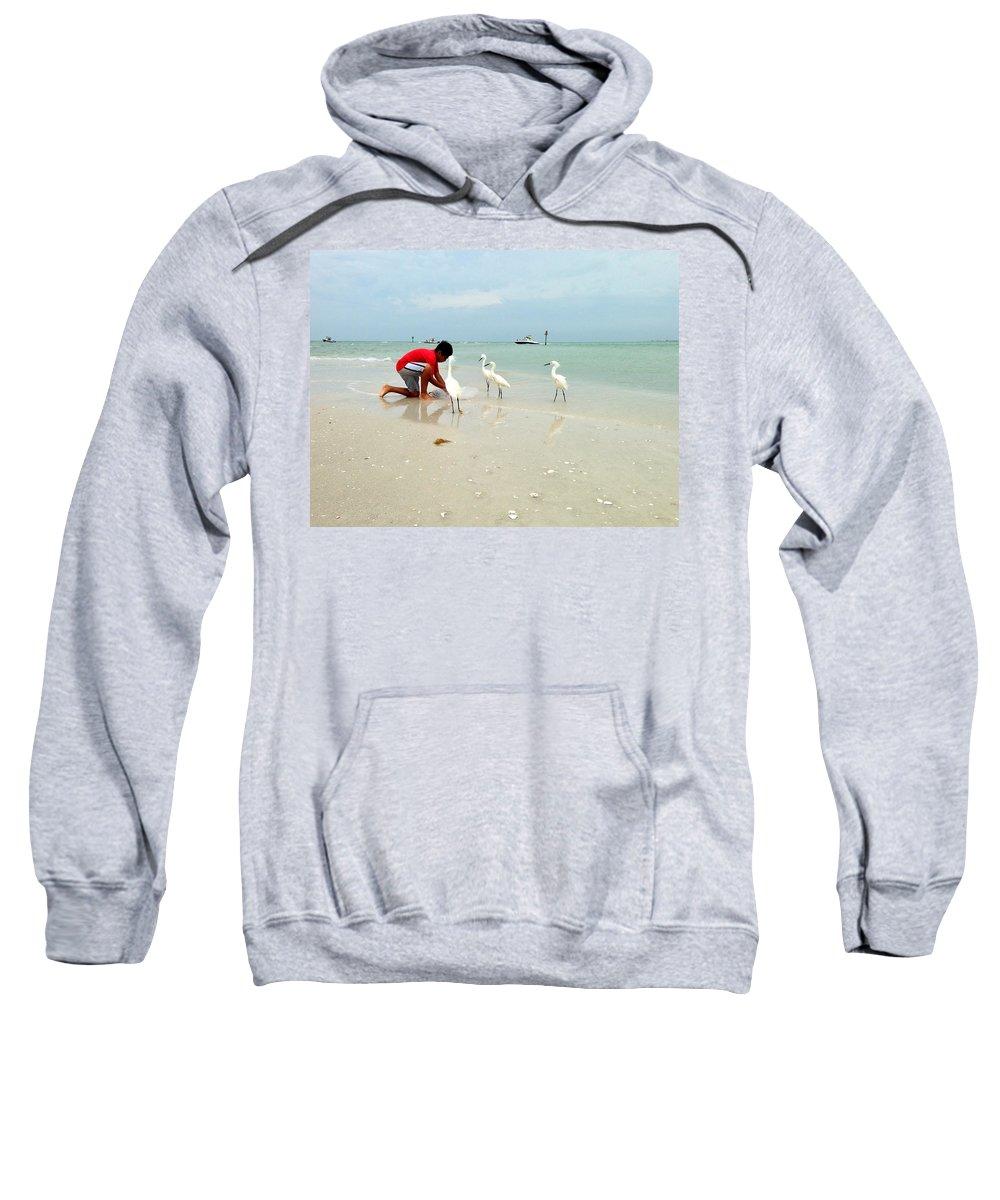 Fishing Sweatshirt featuring the photograph Fisherboy by Jane Merrit