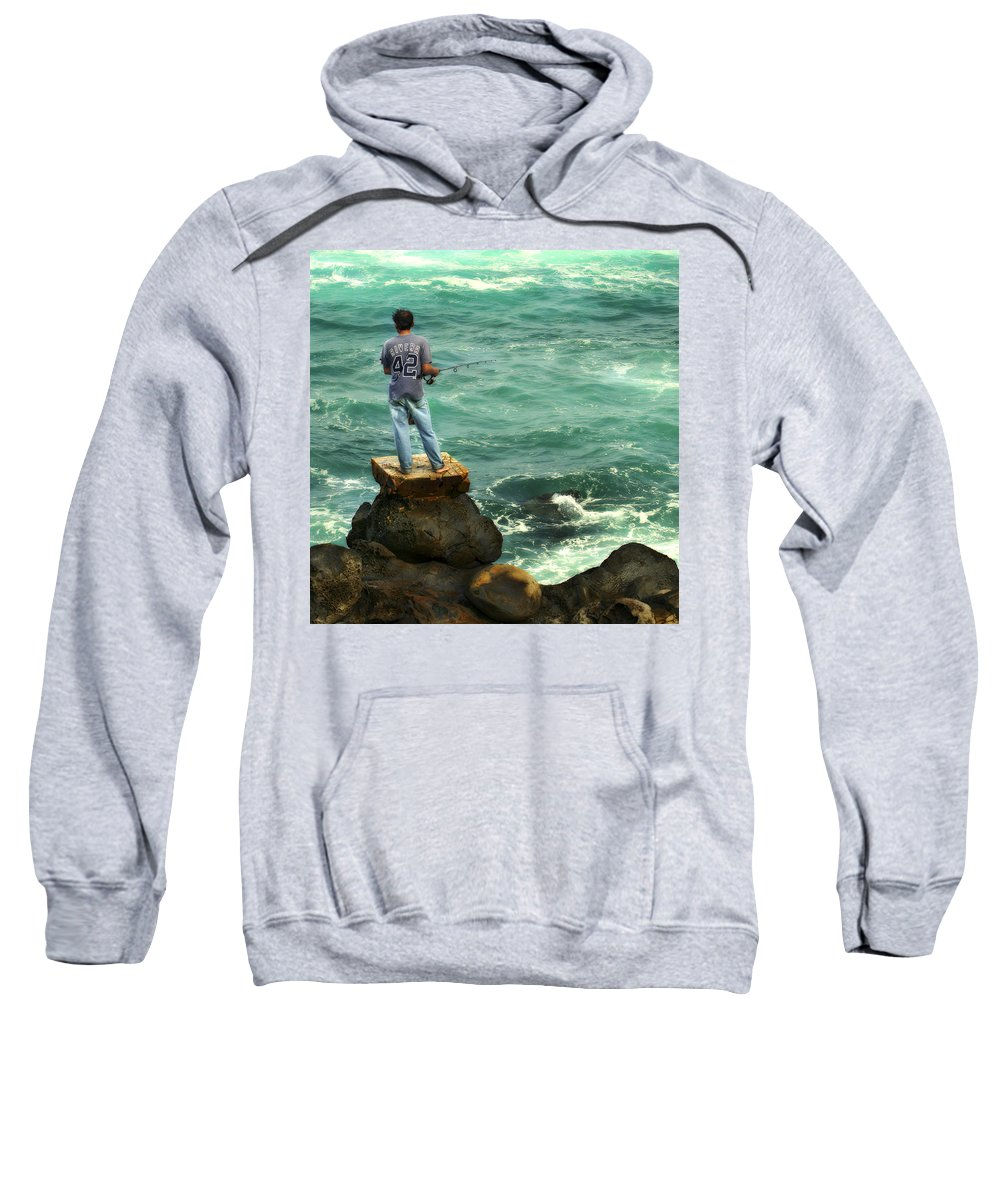 Americana Sweatshirt featuring the photograph Fisherman by Marilyn Hunt