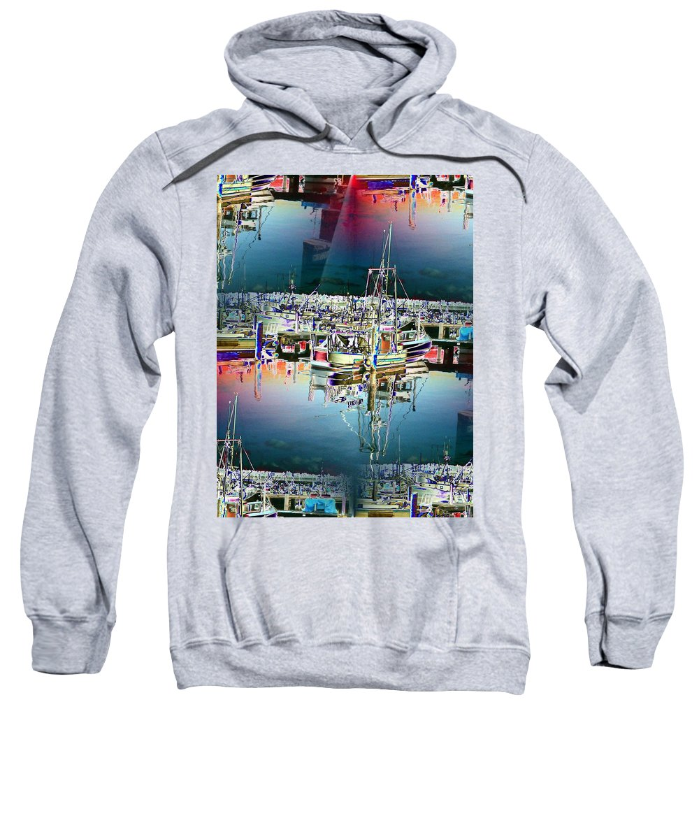 Seattle Sweatshirt featuring the photograph Fishermans Terminal 3 by Tim Allen