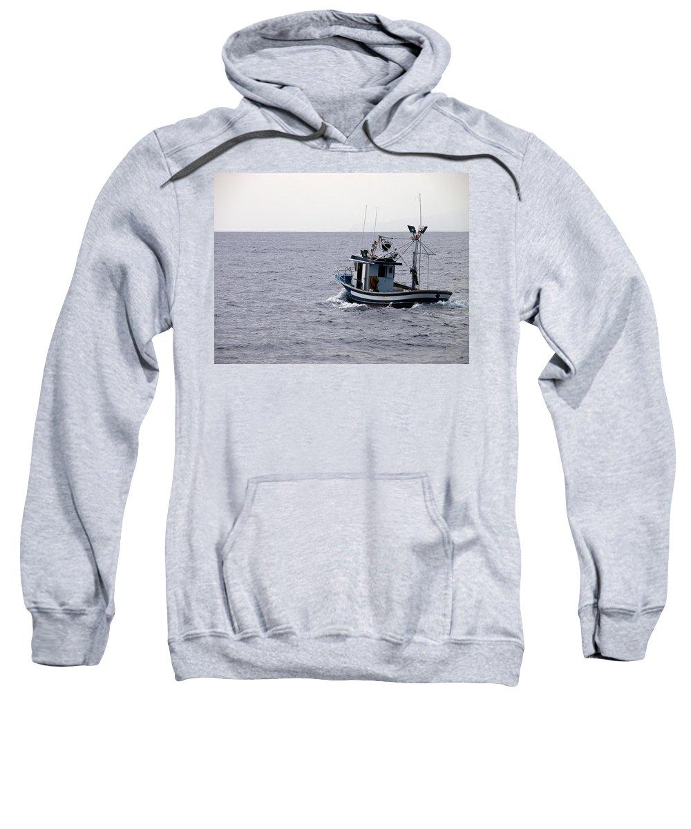 Valasretki Sweatshirt featuring the photograph Fishermen by Jouko Lehto