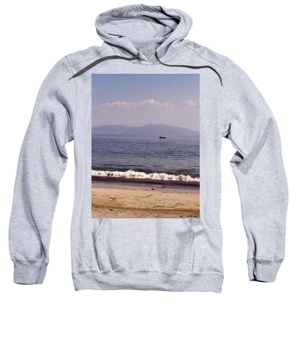 Irish Sweatshirt featuring the photograph Fishing Boat On Ventry Harbor Ireland by Teresa Mucha