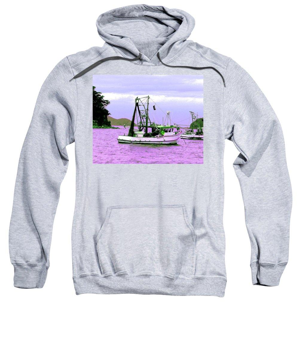 Australia Sweatshirt featuring the photograph Fishing Boats At Pearl Beach 1.0 by Giro Tavitian