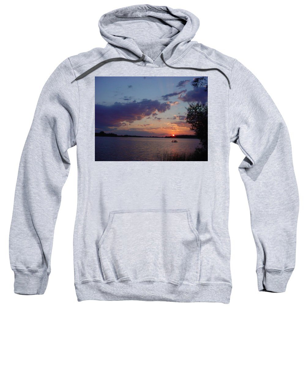 St.lawrence River Sweatshirt featuring the photograph Fishing On The St.lawrence River. by Jerrold Carton