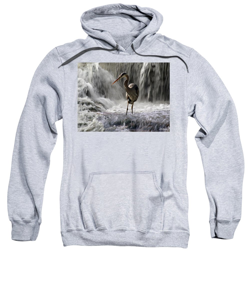 Waterfalls Sweatshirt featuring the photograph Fishing Time by Bill Stephens