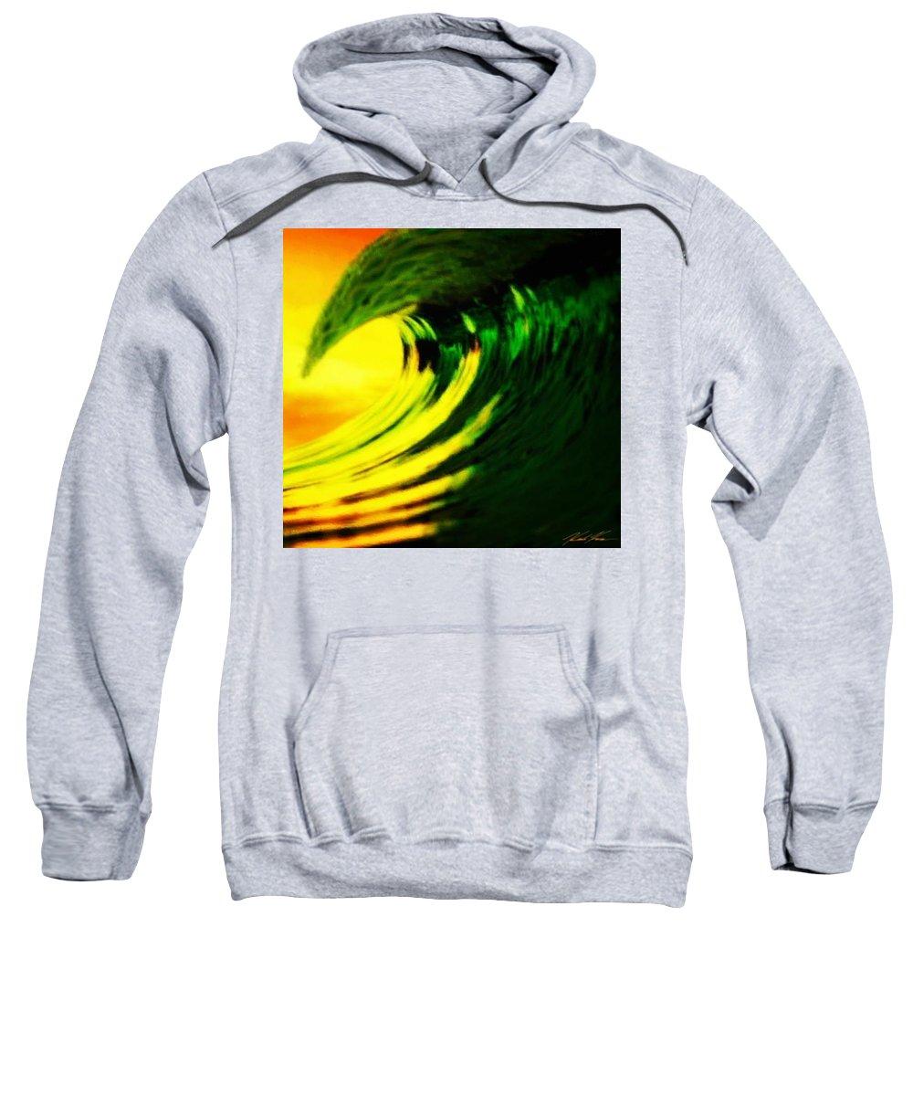Surf Sweatshirt featuring the digital art Fl O J by Keith Kos