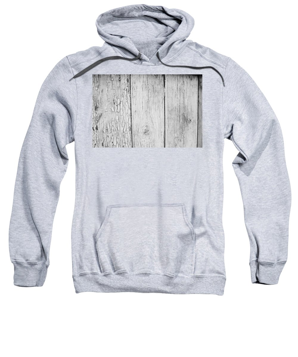 Abstract Sweatshirt featuring the photograph Flaking Grey Wood Paint by John Williams