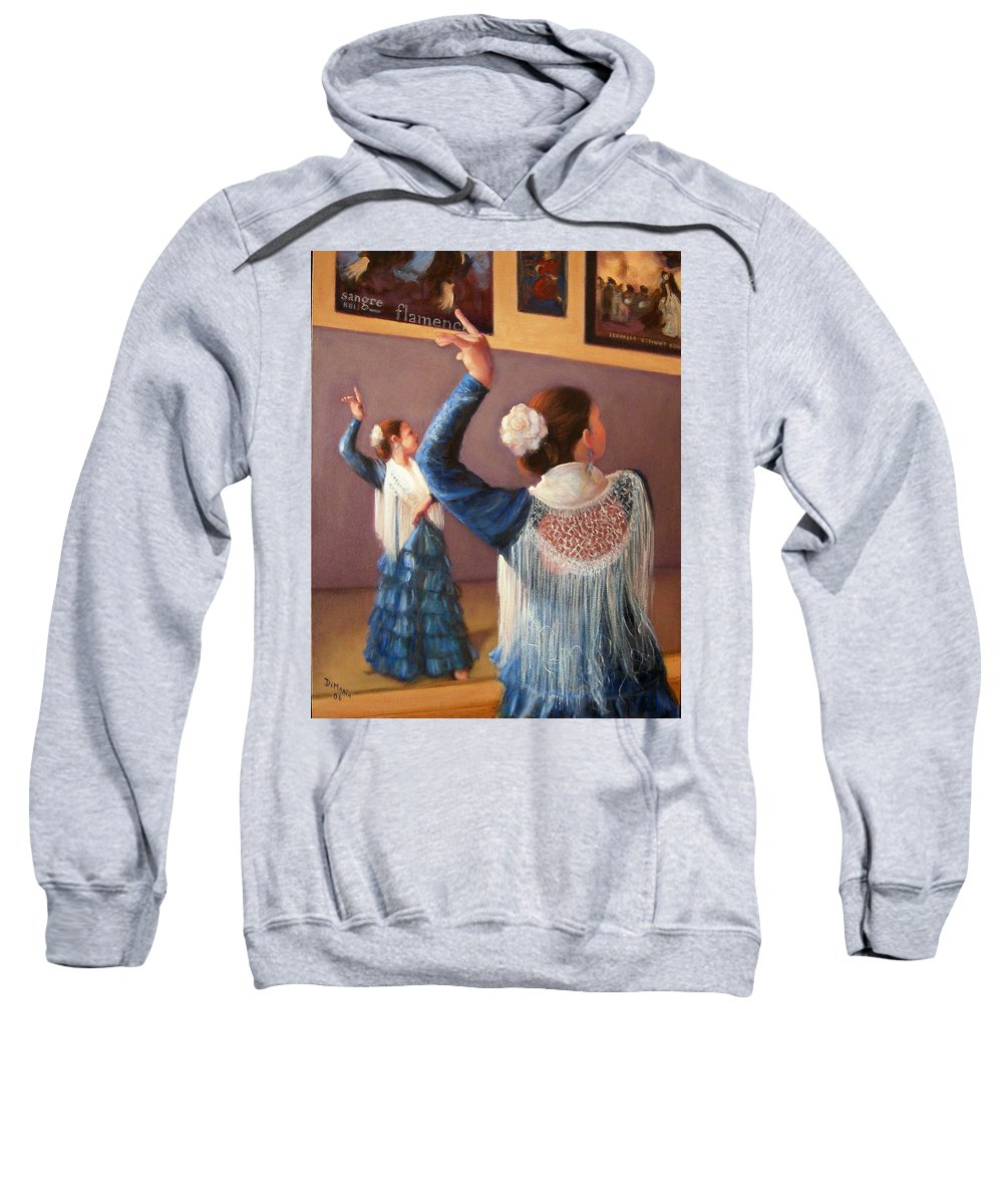Realism Sweatshirt featuring the painting Flamenco 7 by Donelli DiMaria