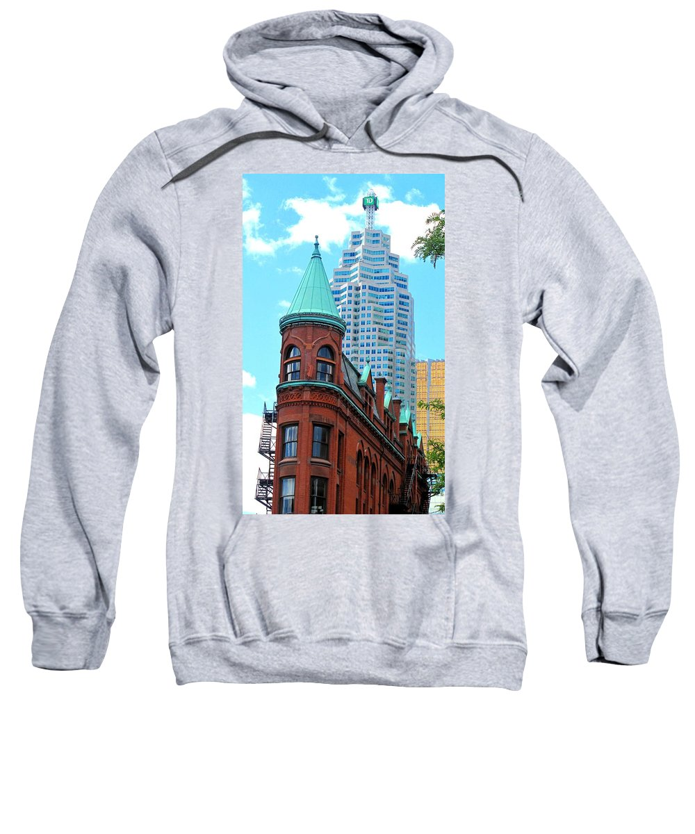 Flat Iron Building Sweatshirt featuring the photograph Flat Iron Building by Ian MacDonald