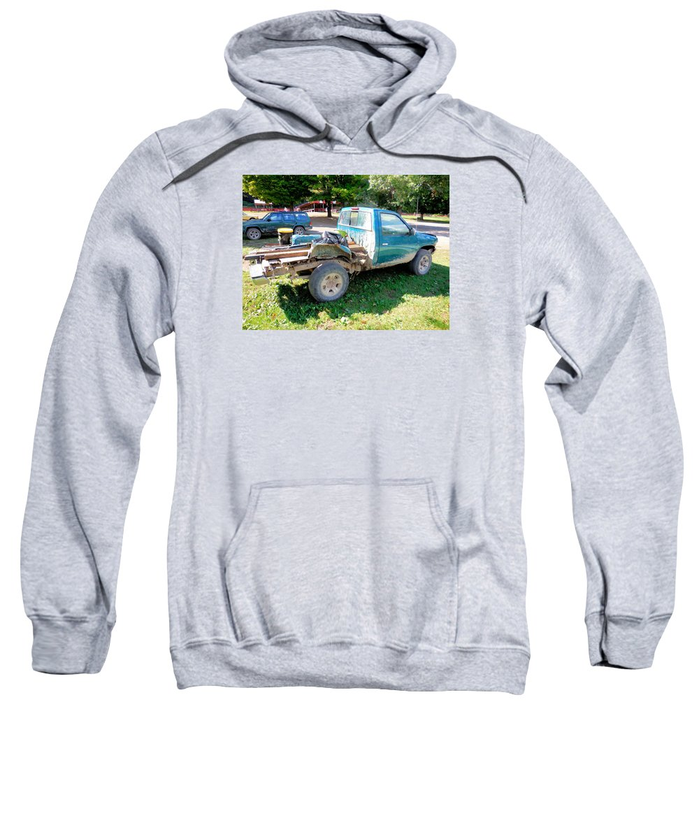 Flatbed Truck Sweatshirt featuring the painting Flatbed Truck by Jeelan Clark