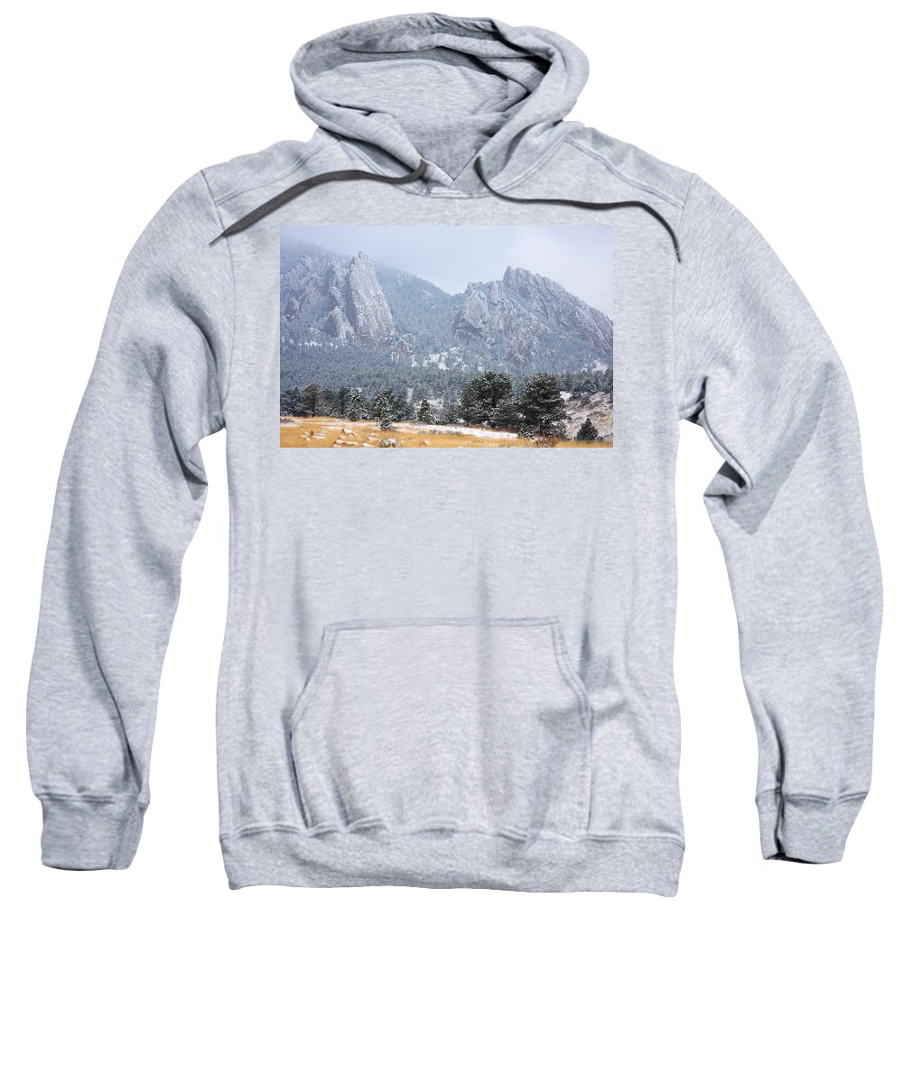 Flatirons Sweatshirt featuring the photograph Flatirons by James BO Insogna