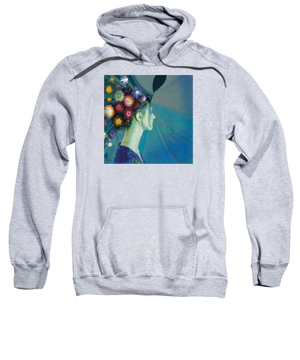 Beauty Sweatshirt featuring the painting Fleur 2 by Van Renselar