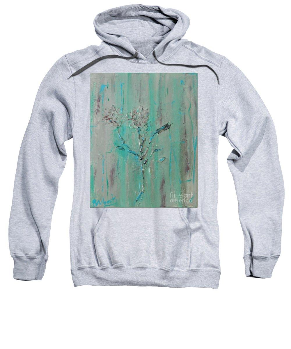 Flowers Sweatshirt featuring the painting Fleur De Sage by Lorenz Brochert