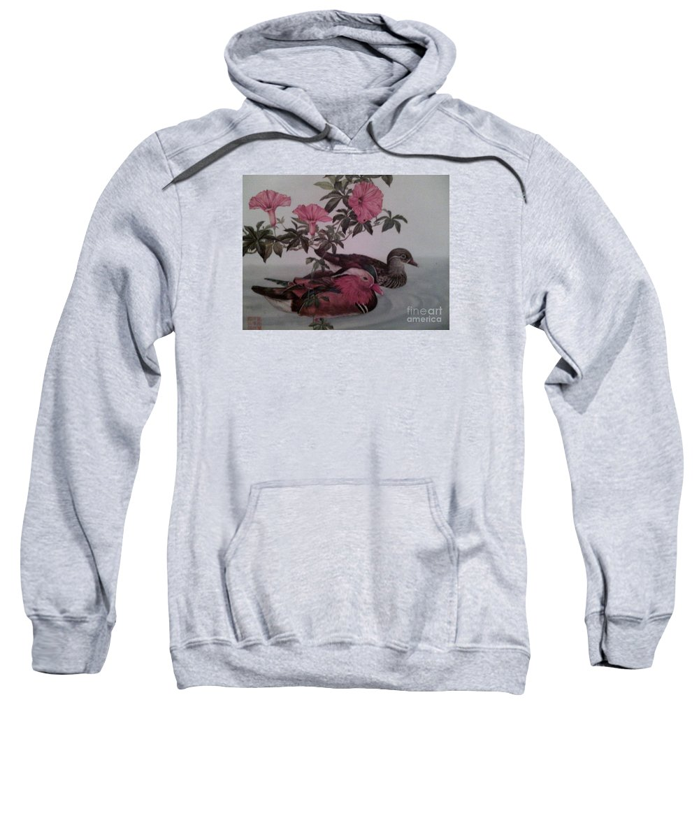 Sweatshirt featuring the painting Flight by Dutch MARCHING