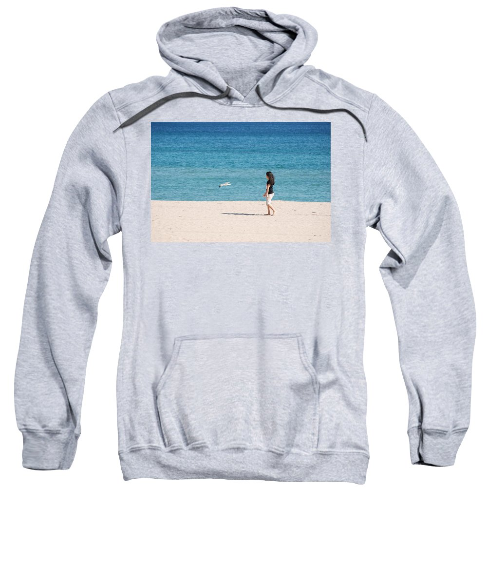 Ocean Sweatshirt featuring the photograph Flight Of The Angel by Rob Hans