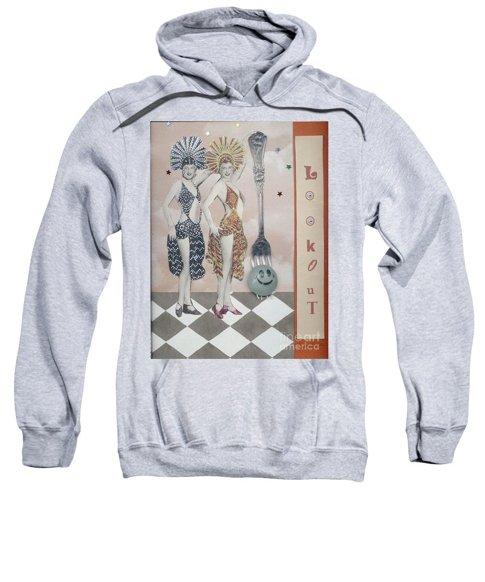 Vintage Sweatshirt featuring the mixed media Fling by Desiree Paquette