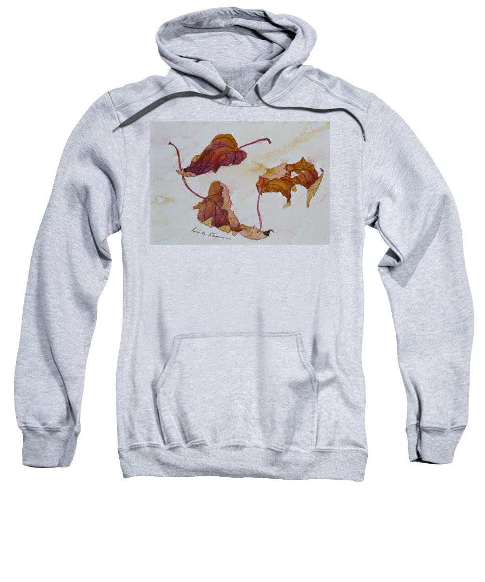 Fall Sweatshirt featuring the painting Floating by Ruth Kamenev