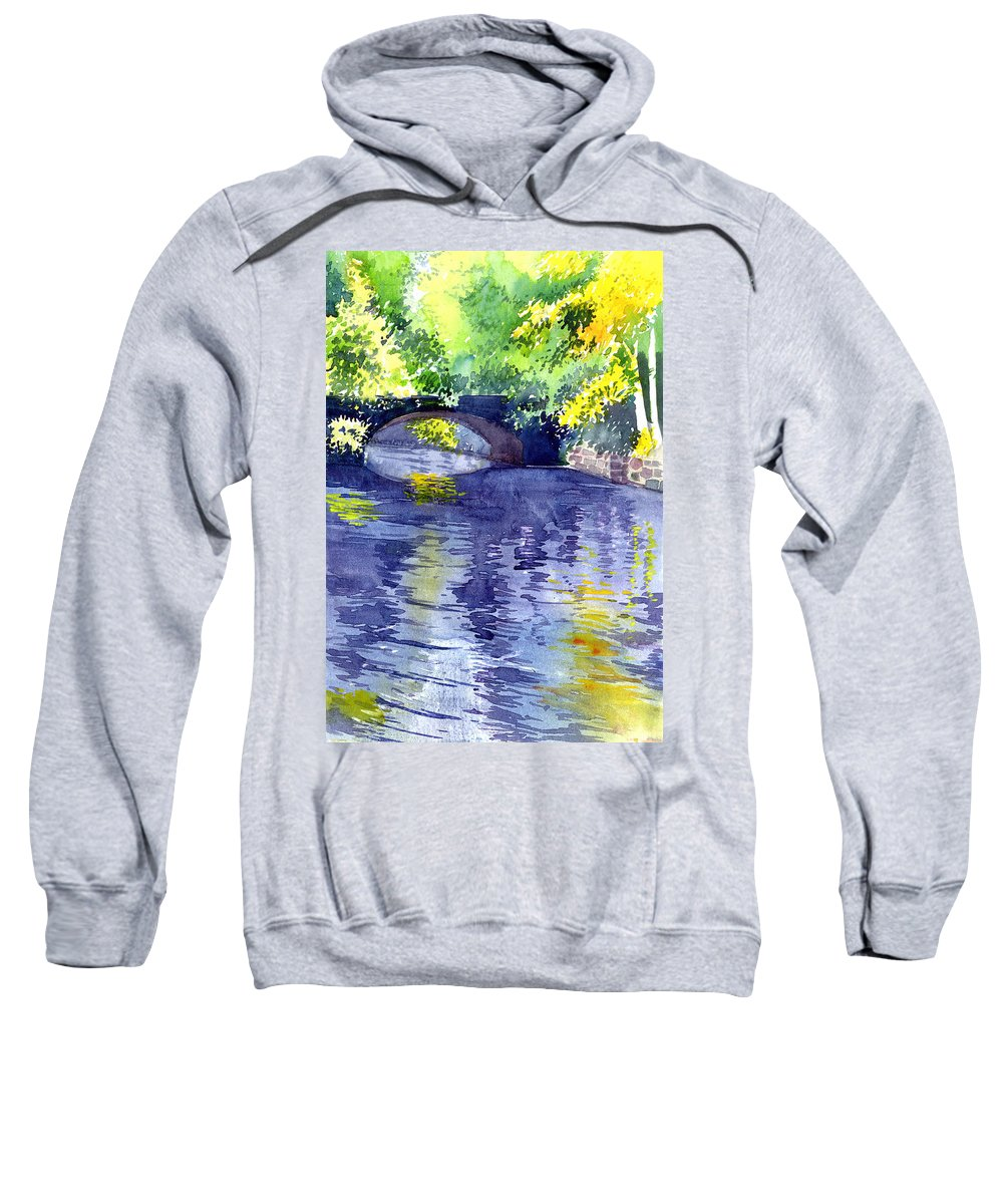 Nature Sweatshirt featuring the painting Floods by Anil Nene