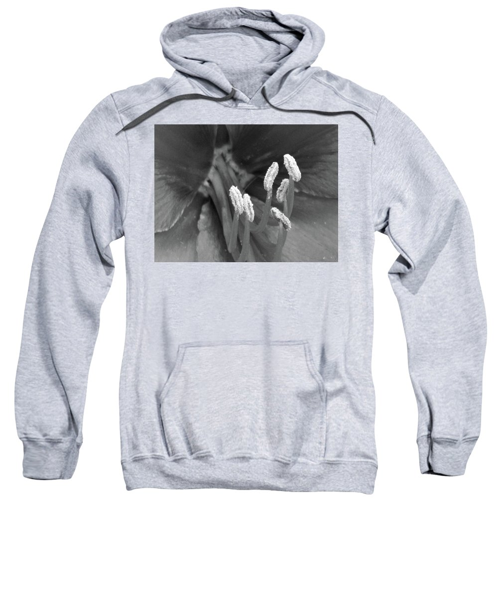 Floral Sweatshirt featuring the photograph Flora Stigma Bw by Pamela Critchlow