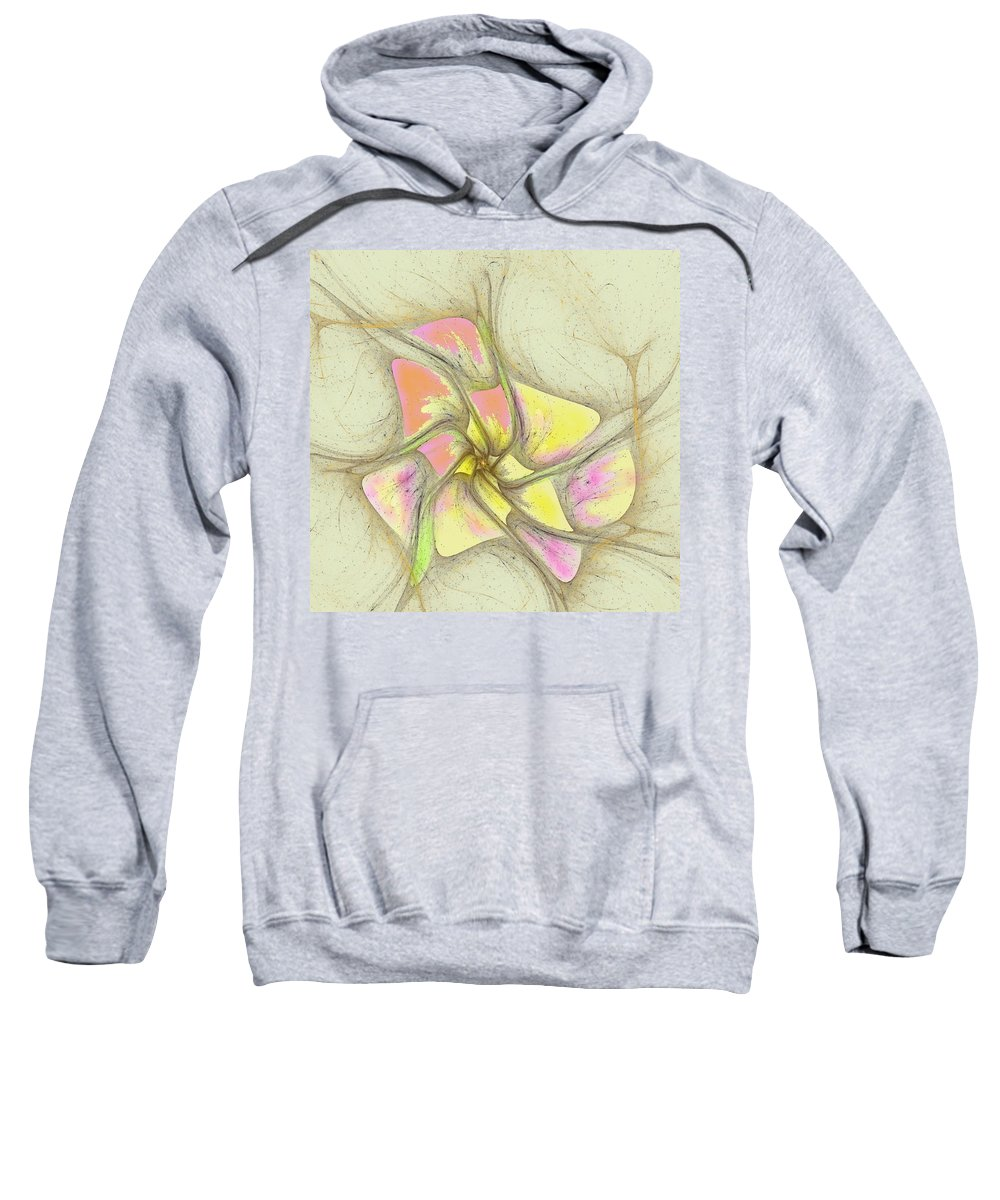 Sweatshirt featuring the digital art Floral 2-19-10-a by David Lane
