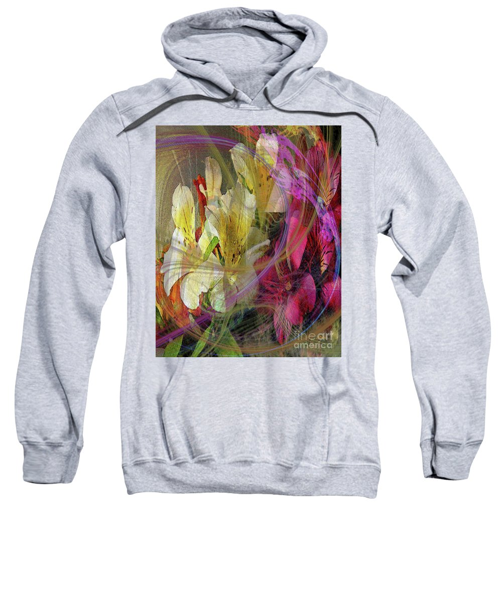 Floral Inspiration Sweatshirt featuring the digital art Floral Inspiration by John Beck