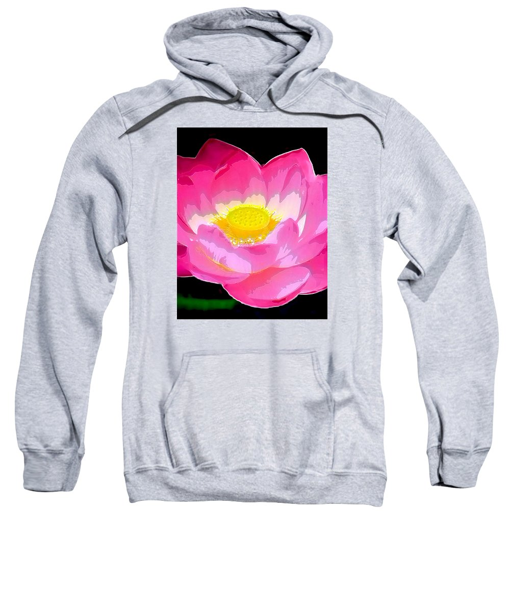 Flowers Sweatshirt featuring the drawing Floral by Philip Gresham