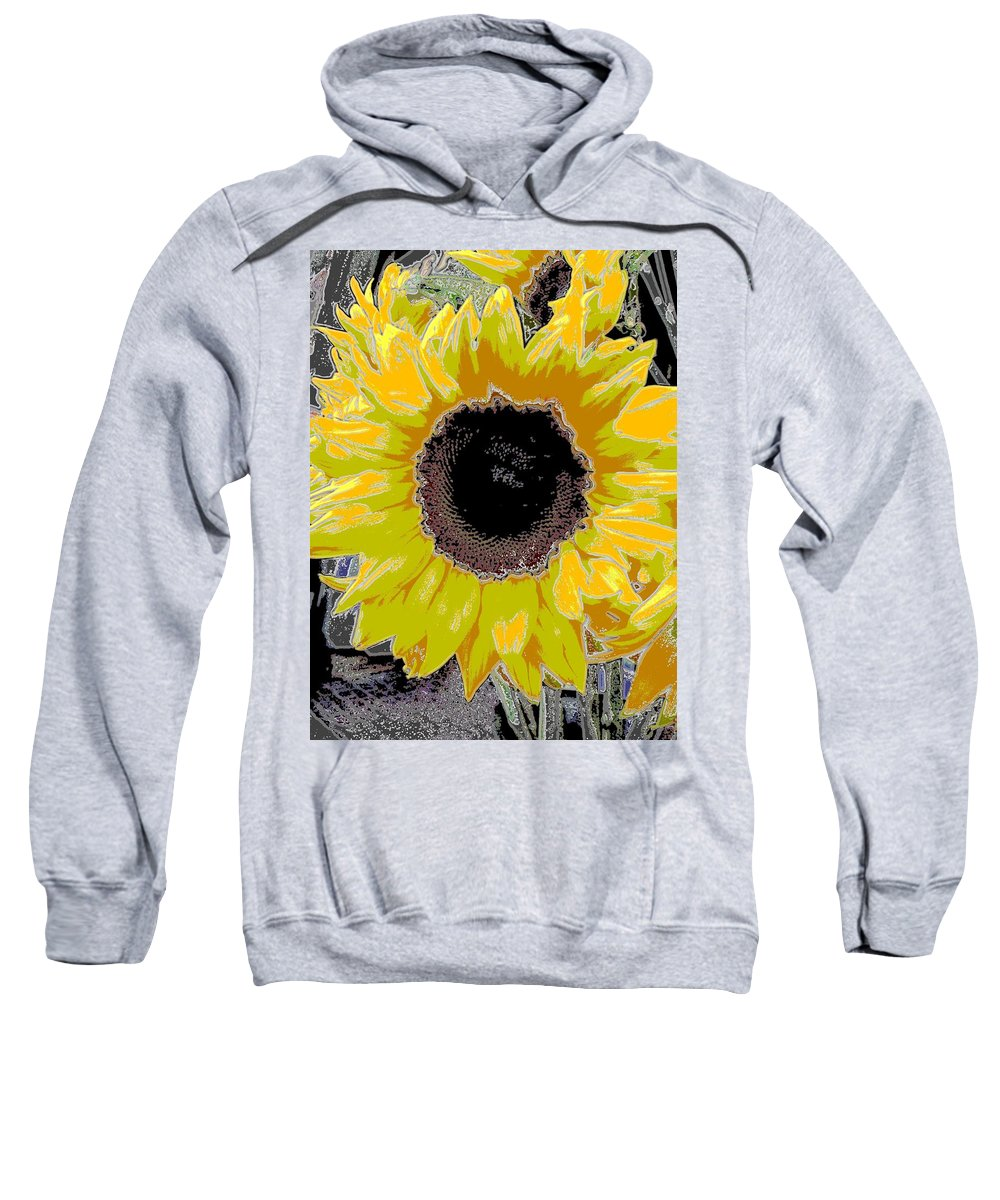 Sunflower Sweatshirt featuring the digital art Floral Sunbeam by Tim Allen