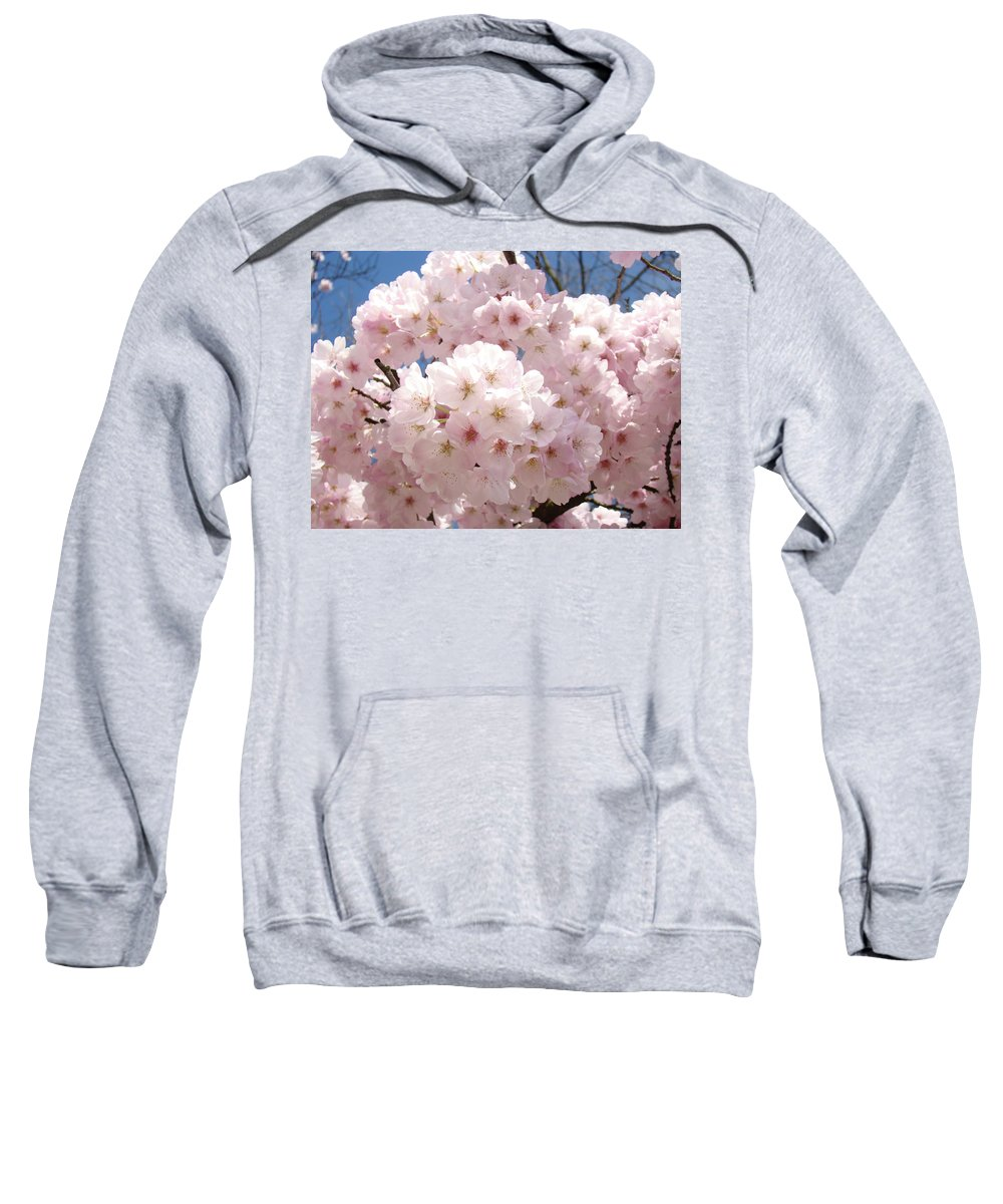 Colorful Sweatshirt featuring the photograph Floral Tree Blossoms Flowers Pink Art Baslee Troutman by Baslee Troutman