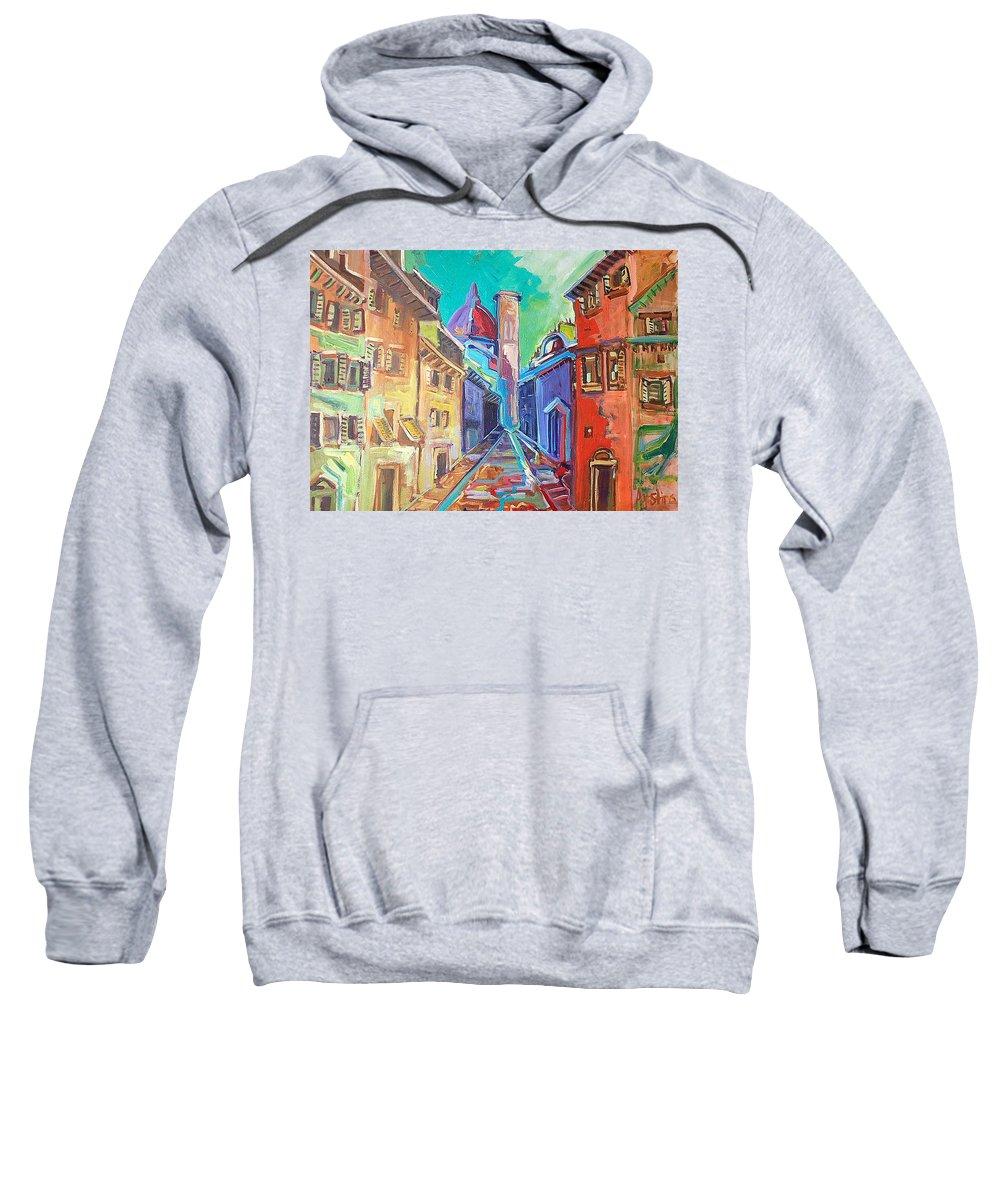 City Sweatshirt featuring the painting Florence by Kurt Hausmann