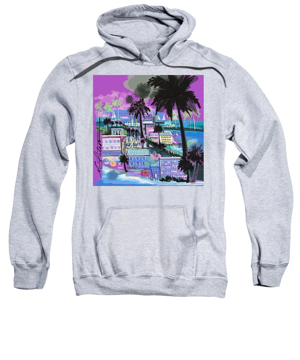 Florida Sweatshirt featuring the digital art Florida 2 by Nicole Slater