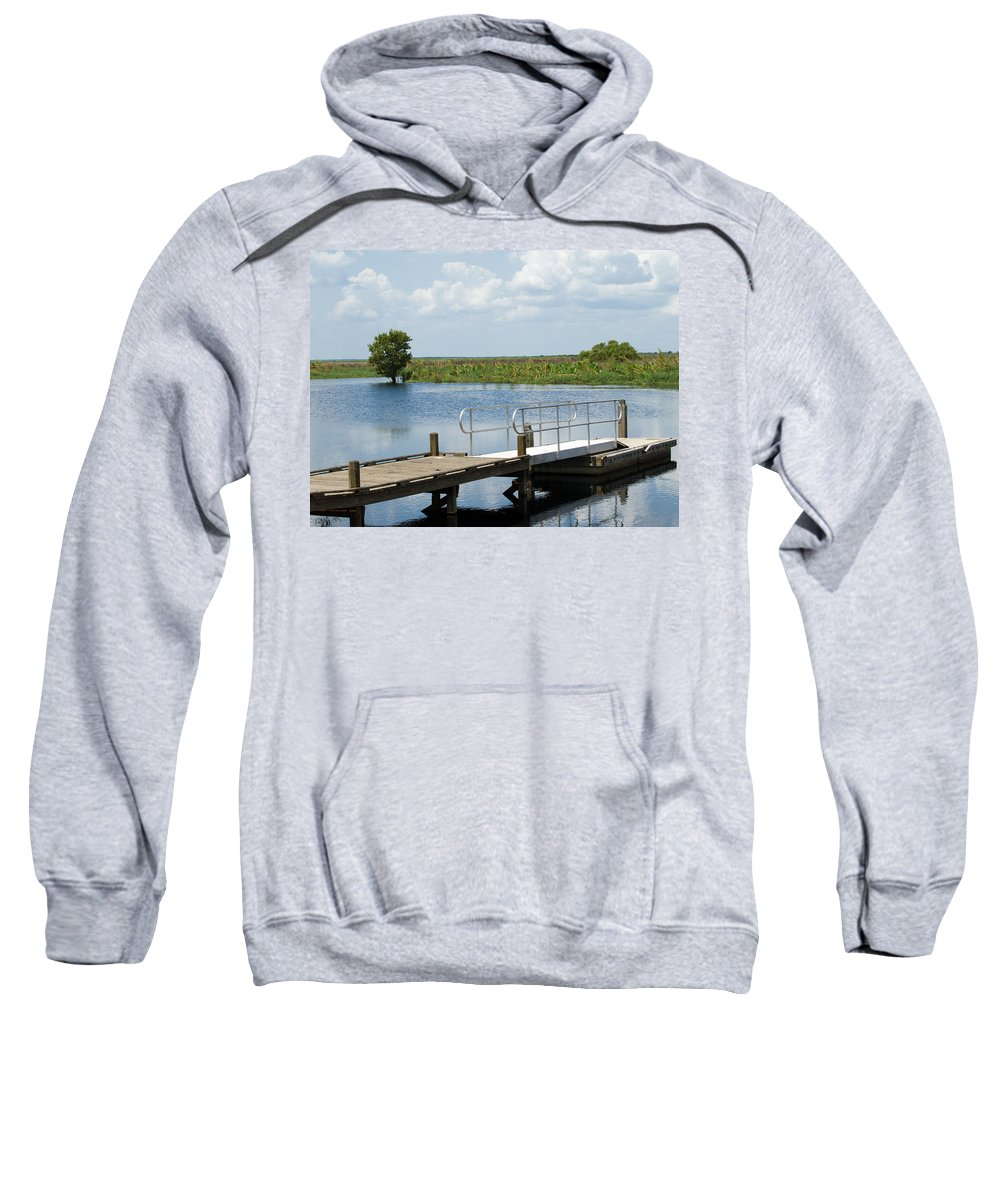 Florida; River; St; Johns; Saint; John; Flow; Flows; North; South;direction; Flowing; Current; Backw Sweatshirt featuring the photograph Florida Backwater by Allan Hughes