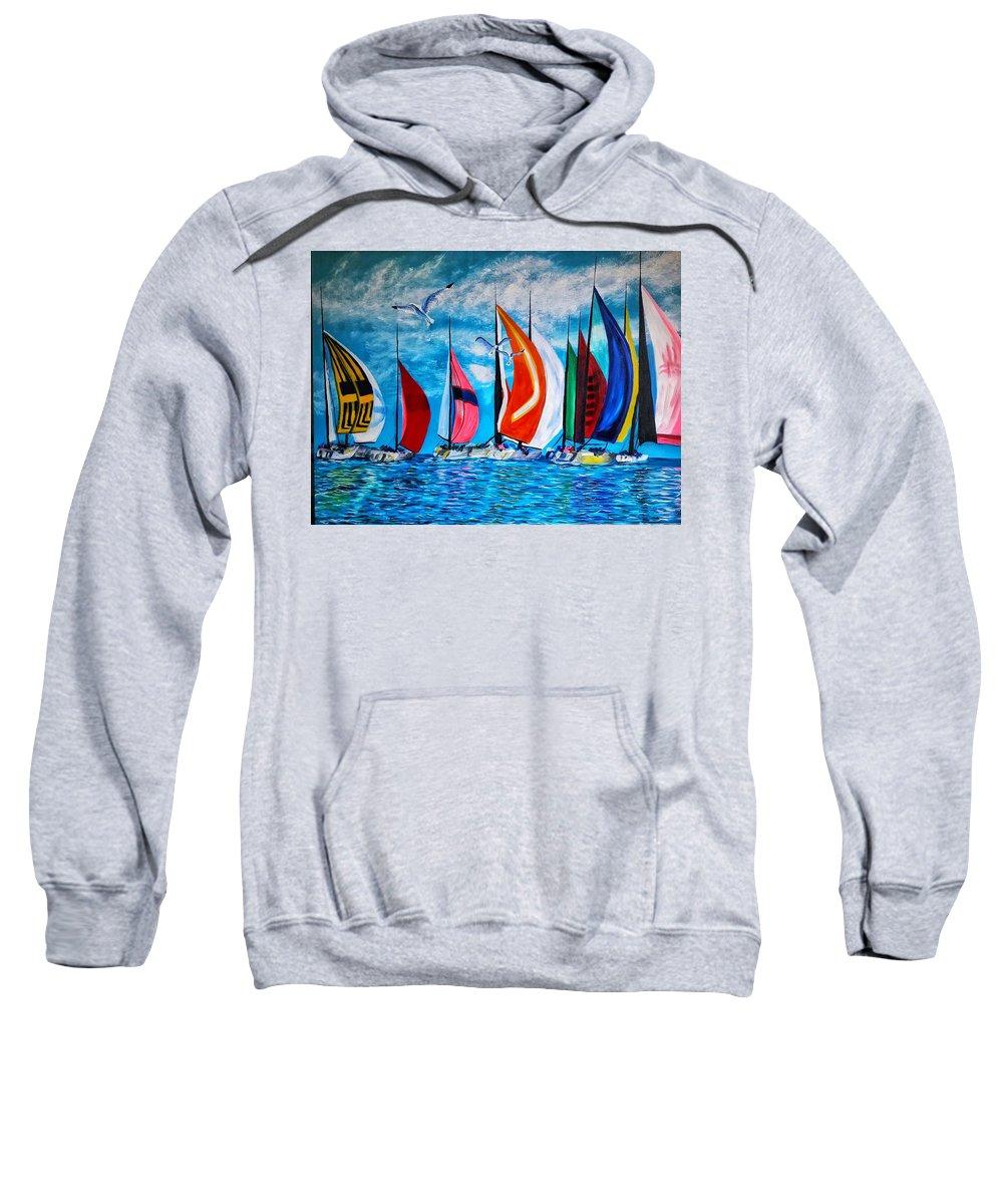 Sweatshirt featuring the painting Florida Bay by Joel Cafiero
