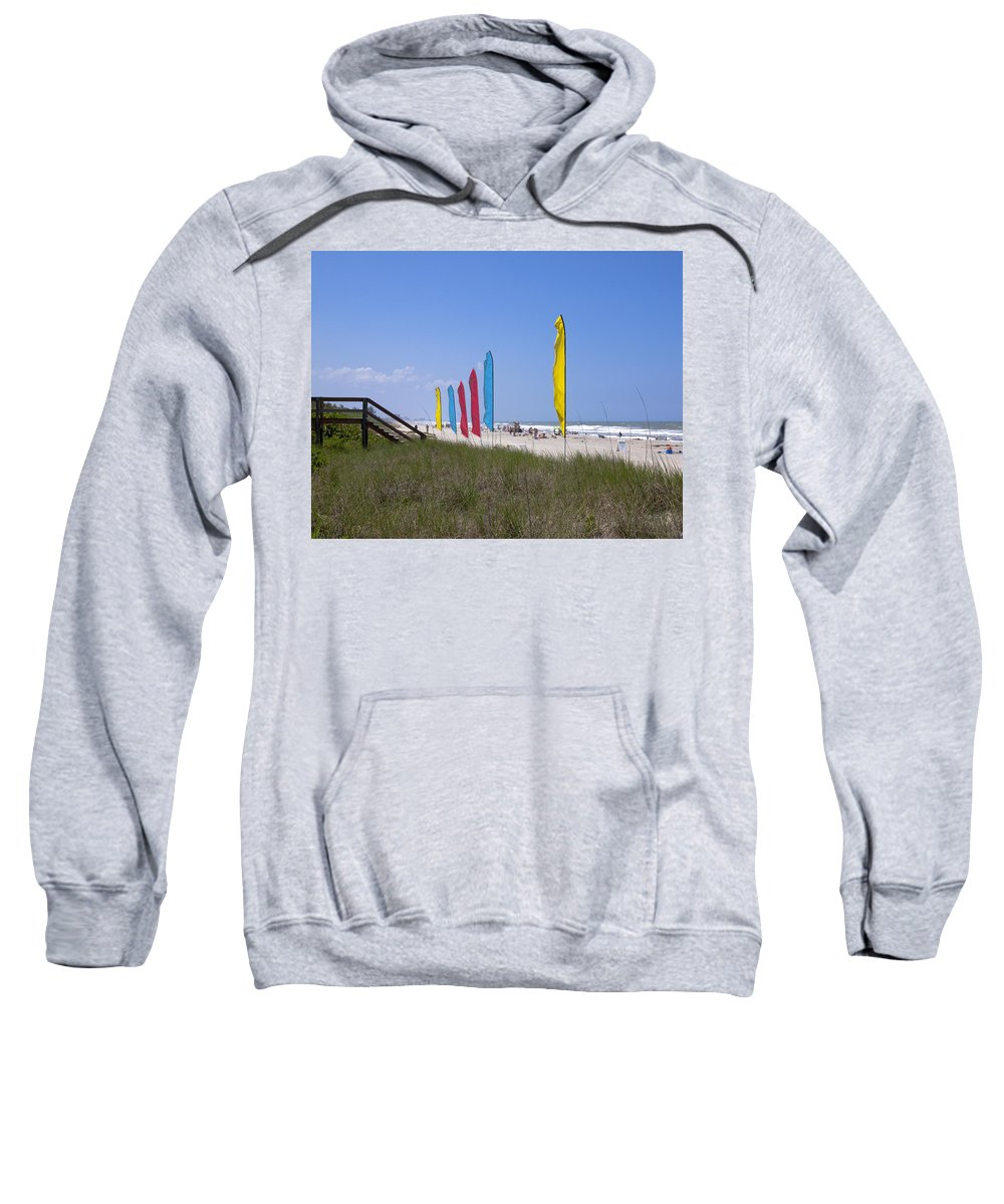 Florida Sweatshirt featuring the photograph Florida Beach On The Atlantic by Allan Hughes