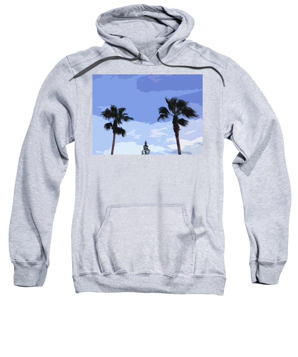 Florida Sweatshirt featuring the photograph Florida Queen Palms  by Allan Hughes
