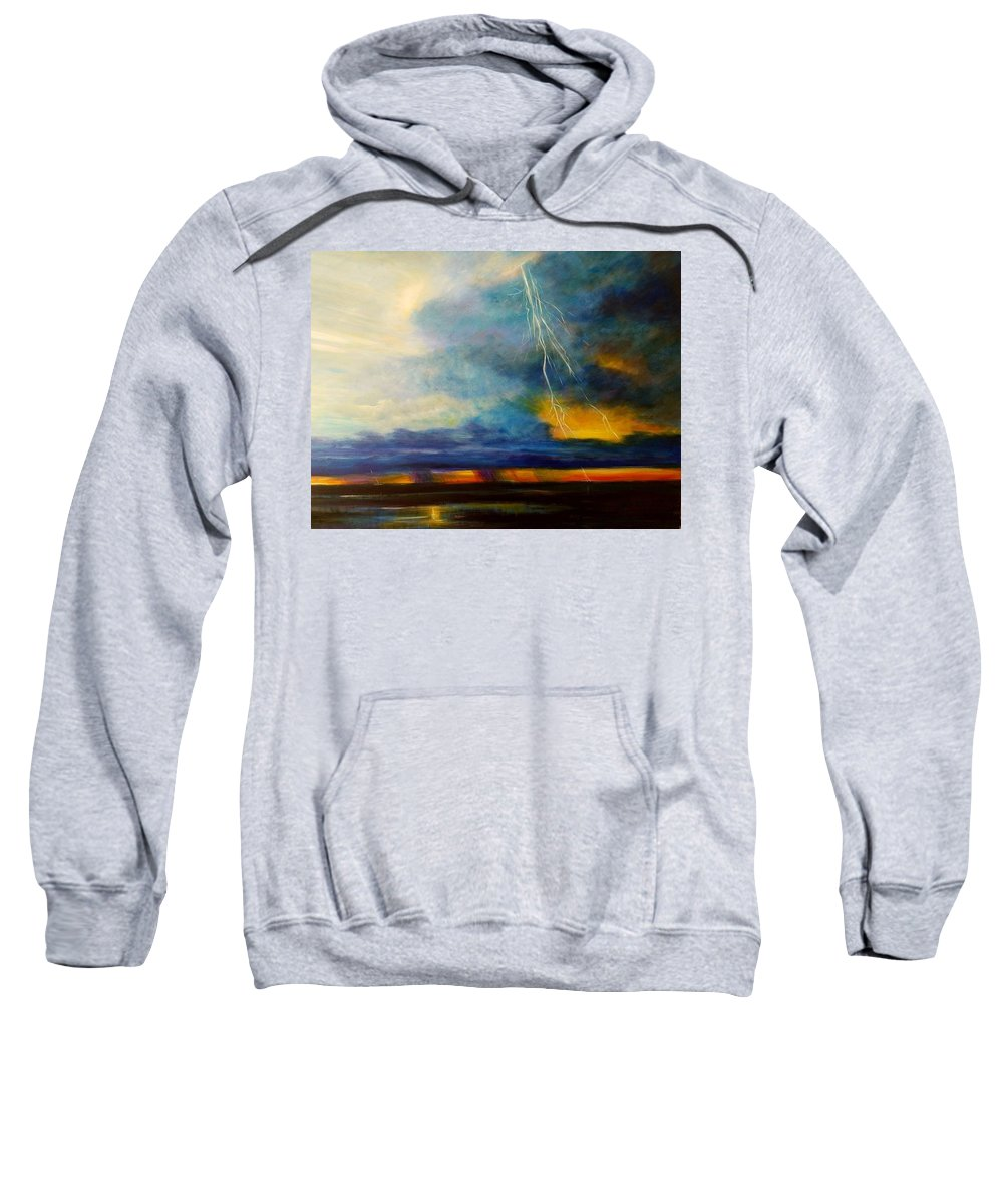 Blue With Deep Purple Sweatshirt featuring the painting Florida Seascape by Larry Palmer