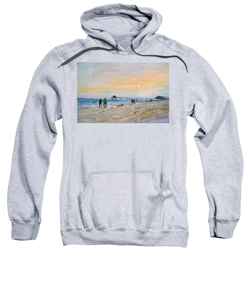 Landscape Sweatshirt featuring the painting Florida Sunset by Ryan Radke