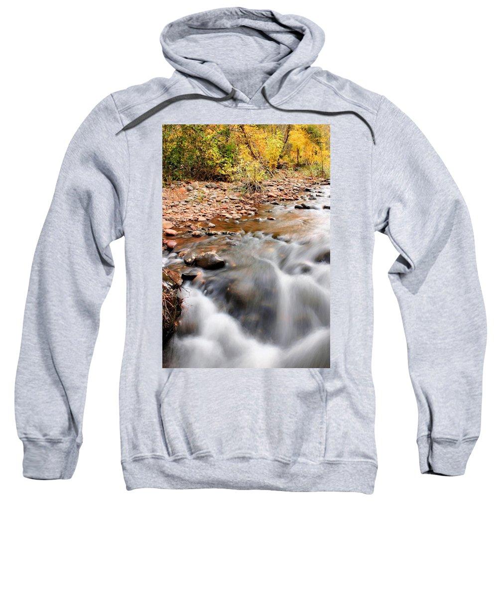 Sedona Sweatshirt featuring the photograph Flow In Sedona by Kristin Elmquist