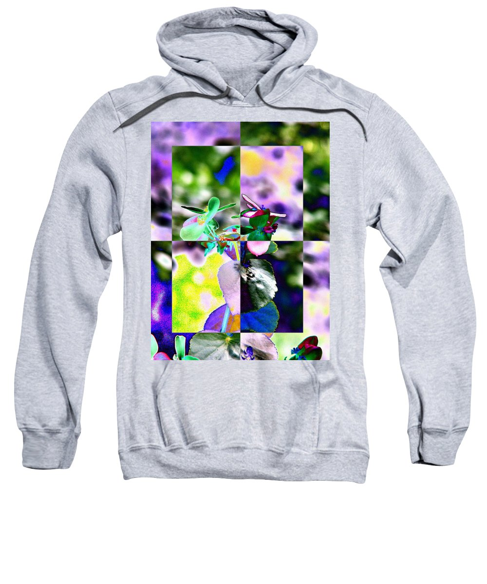 Flower Sweatshirt featuring the digital art Flower 2 by Tim Allen