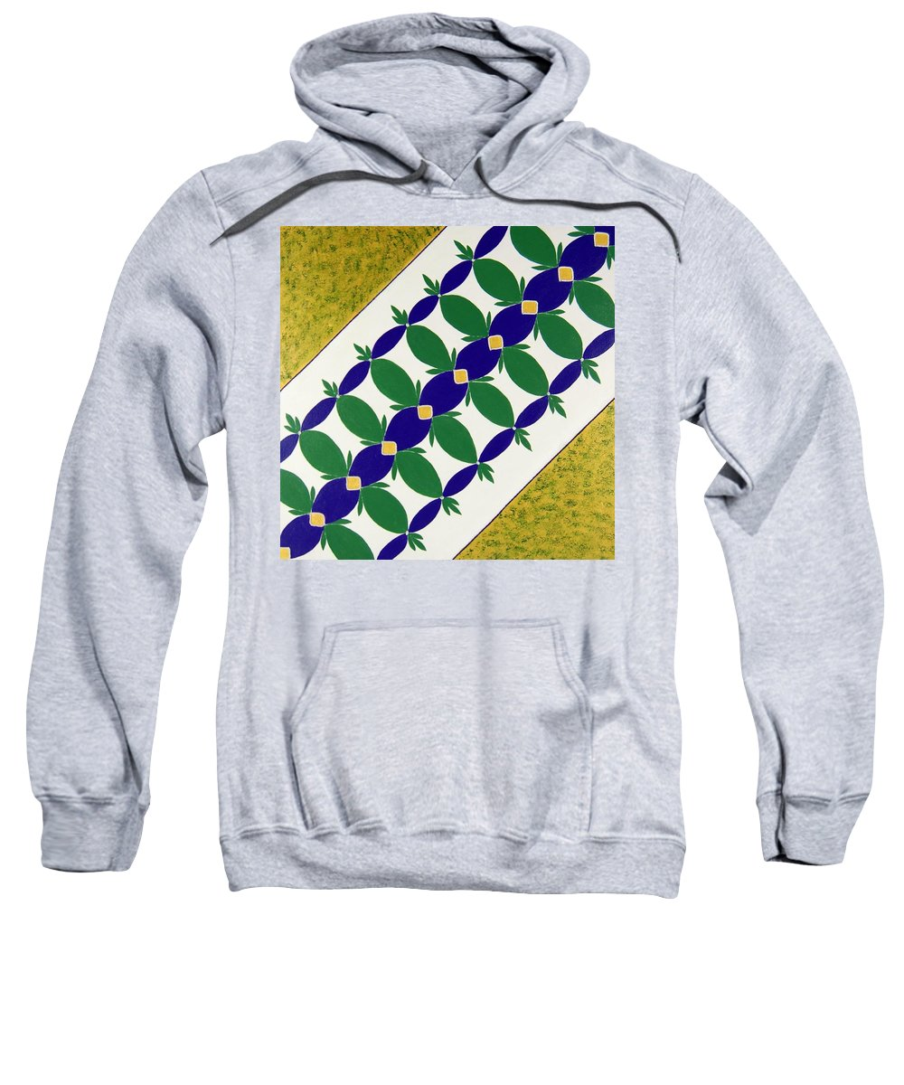 Sweatshirt featuring the painting Flower Bed by Rita Lulay Malsch