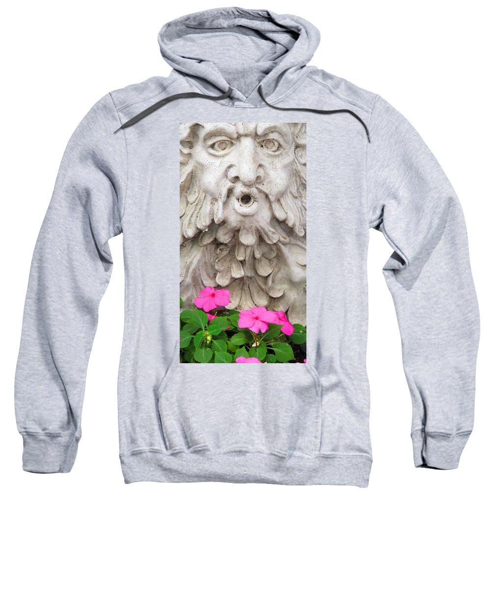 Statue Sweatshirt featuring the photograph Flower Blower by Ian MacDonald