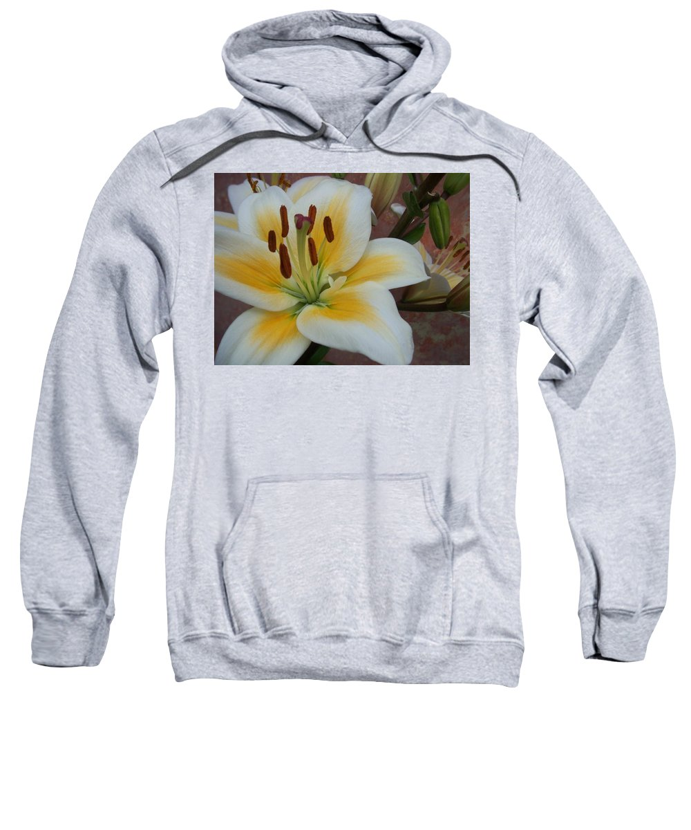 Flower Sweatshirt featuring the photograph Flower Close Up 3 by Anita Burgermeister