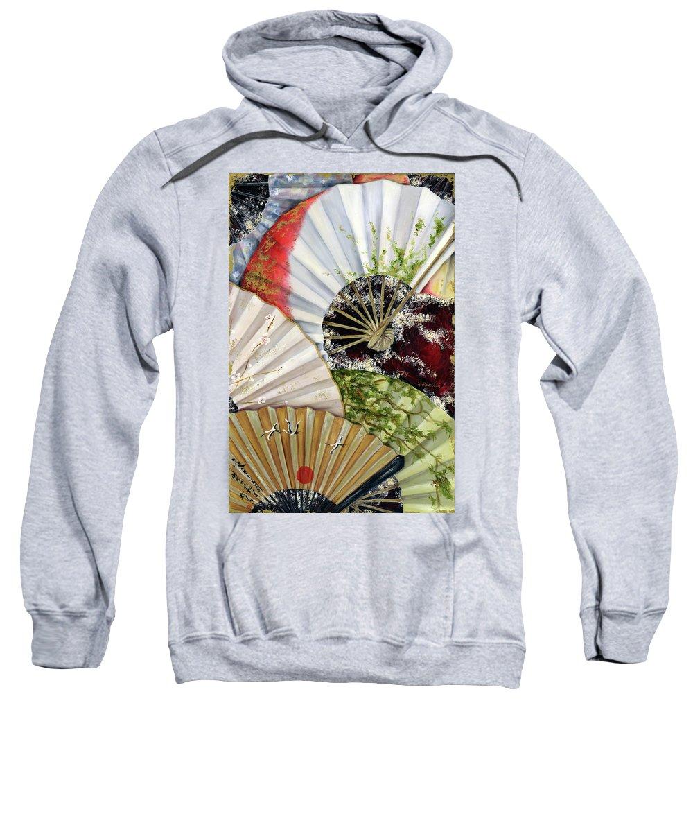 Japanese Sweatshirt featuring the painting Flower Garden by Hiroko Sakai