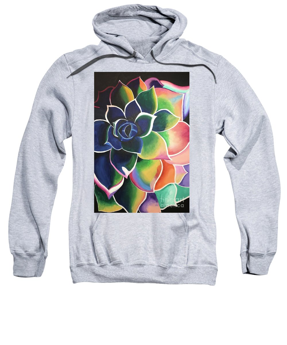 Flower Sweatshirt featuring the painting Flower Vibes by Dawn Plyler