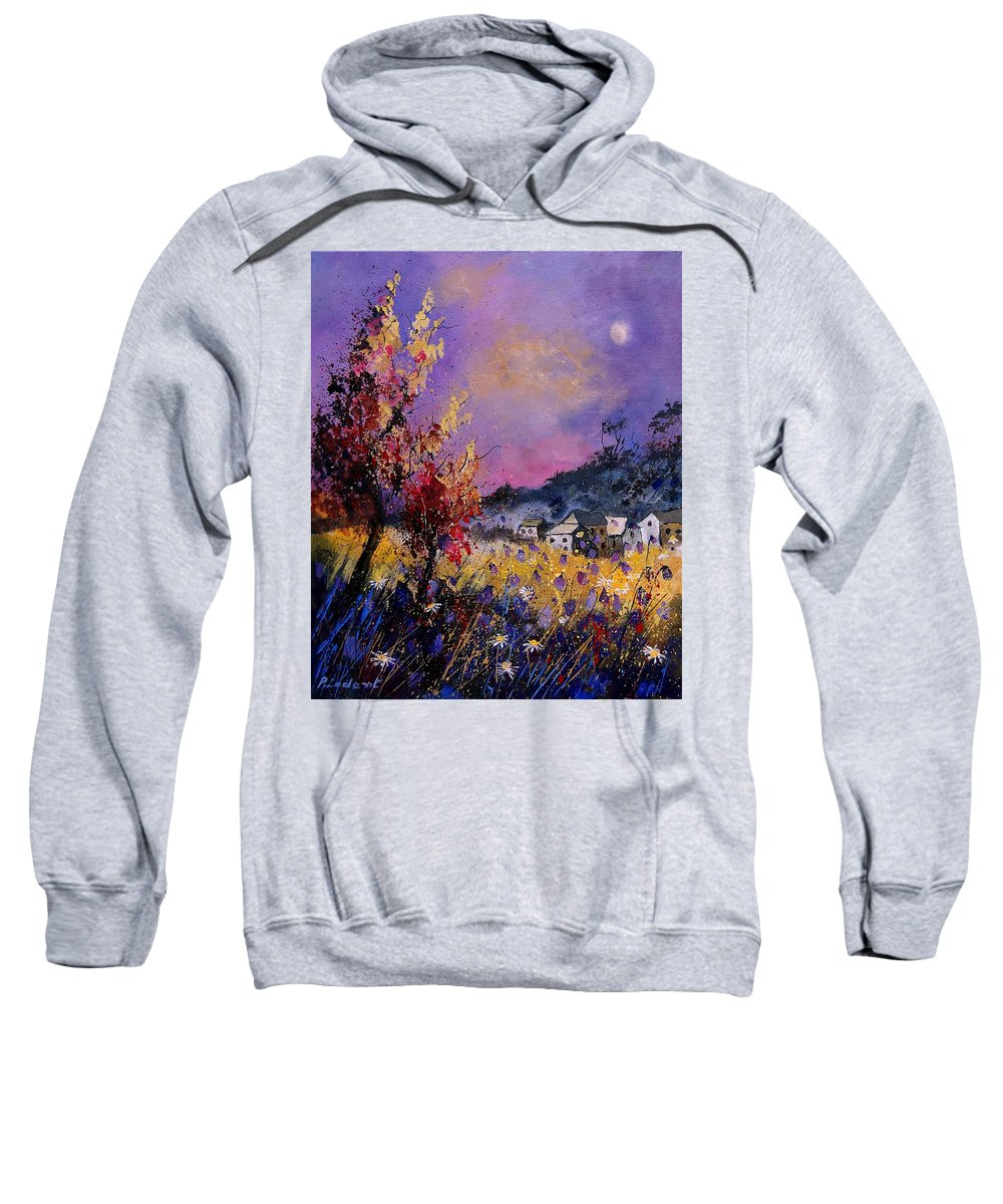 Sweatshirt featuring the painting Flowered Landscape 569070 by Pol Ledent