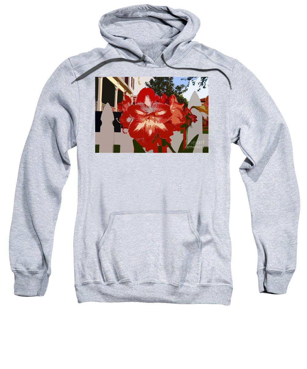 Flower Sweatshirt featuring the photograph Flowering Backyard Work Number 33 by David Lee Thompson