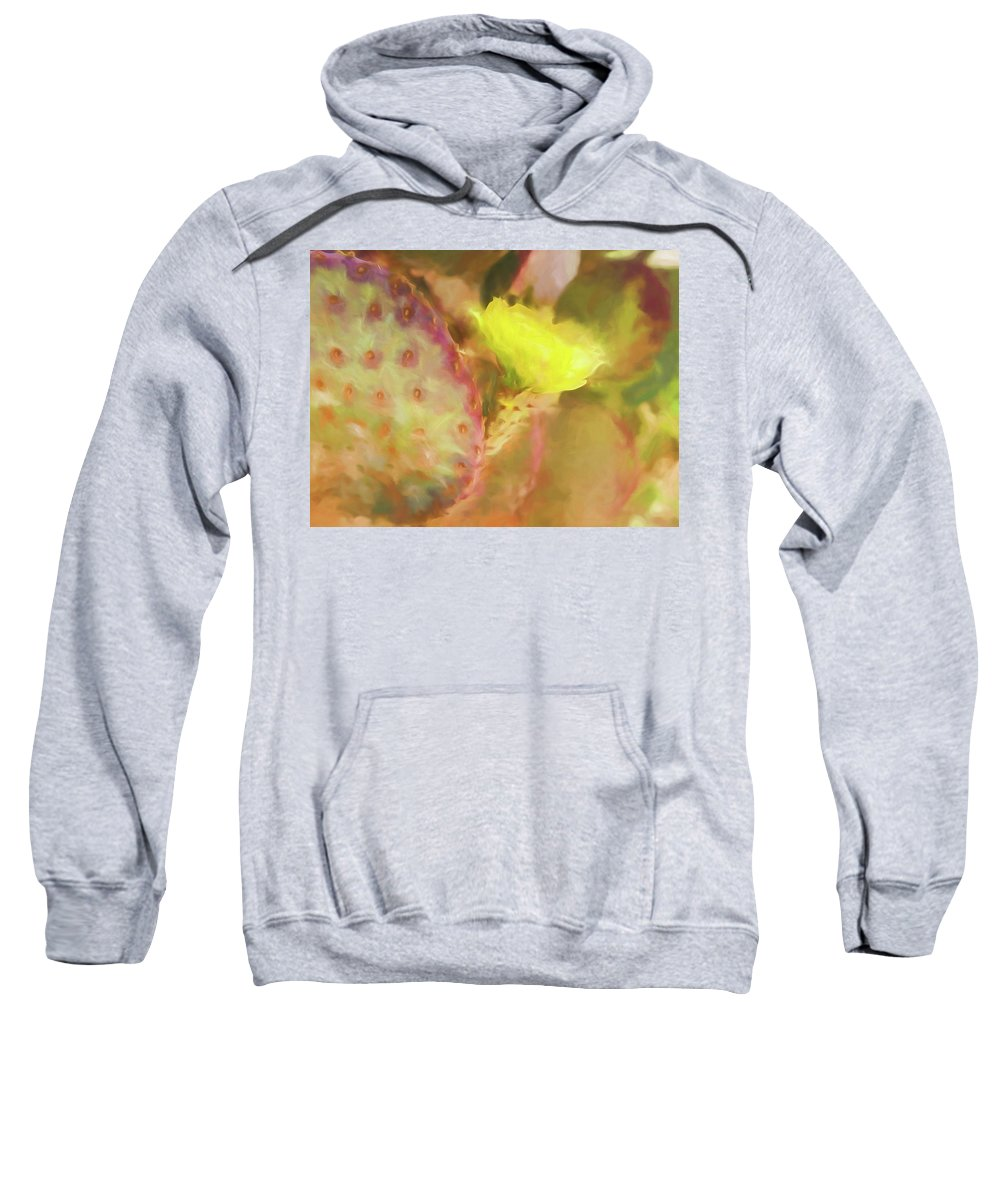 Cactus Sweatshirt featuring the digital art Flowering Pear by Scott Campbell