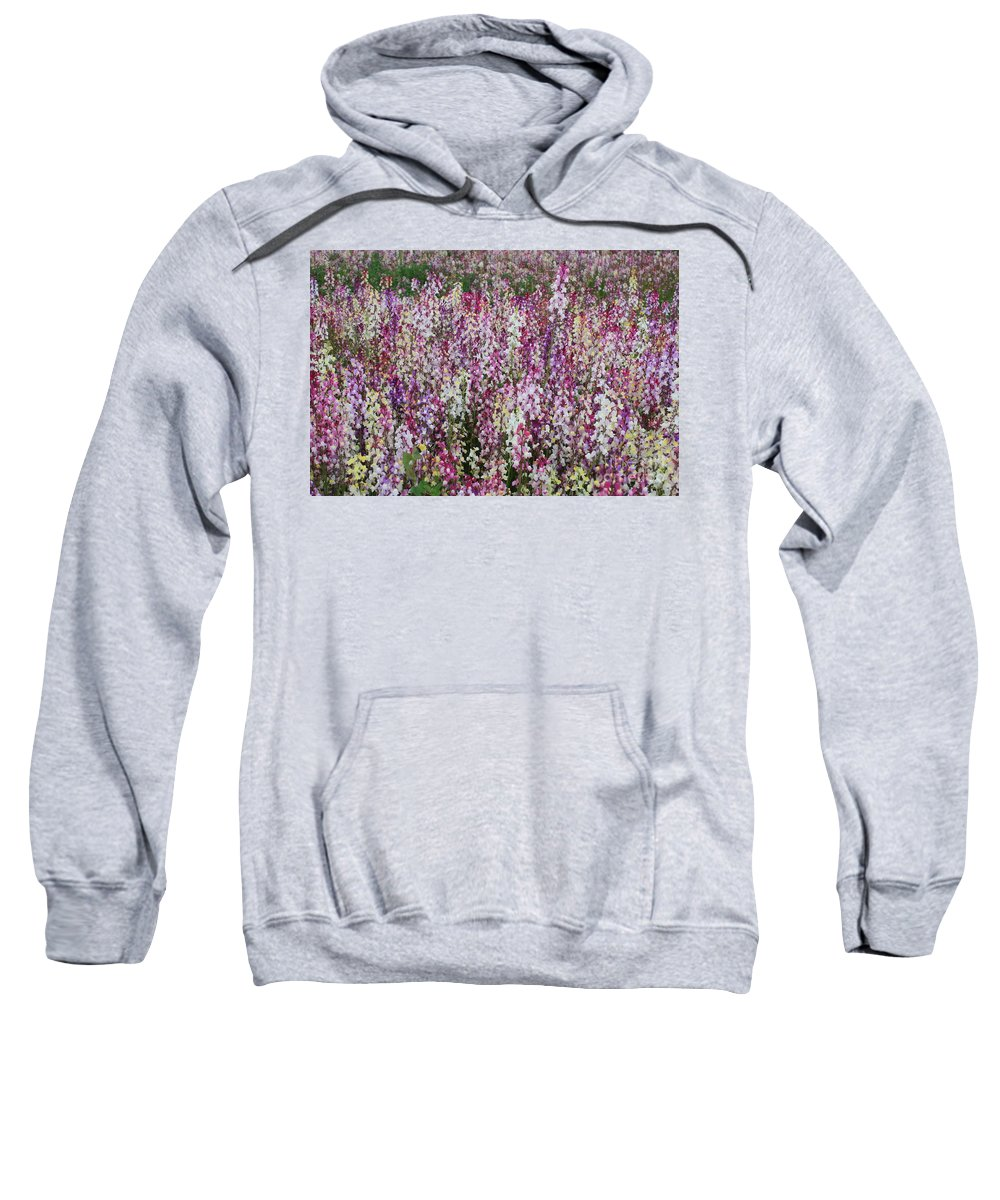 Field Of Flowers Sweatshirt featuring the photograph Flowers Forever by Carol Groenen